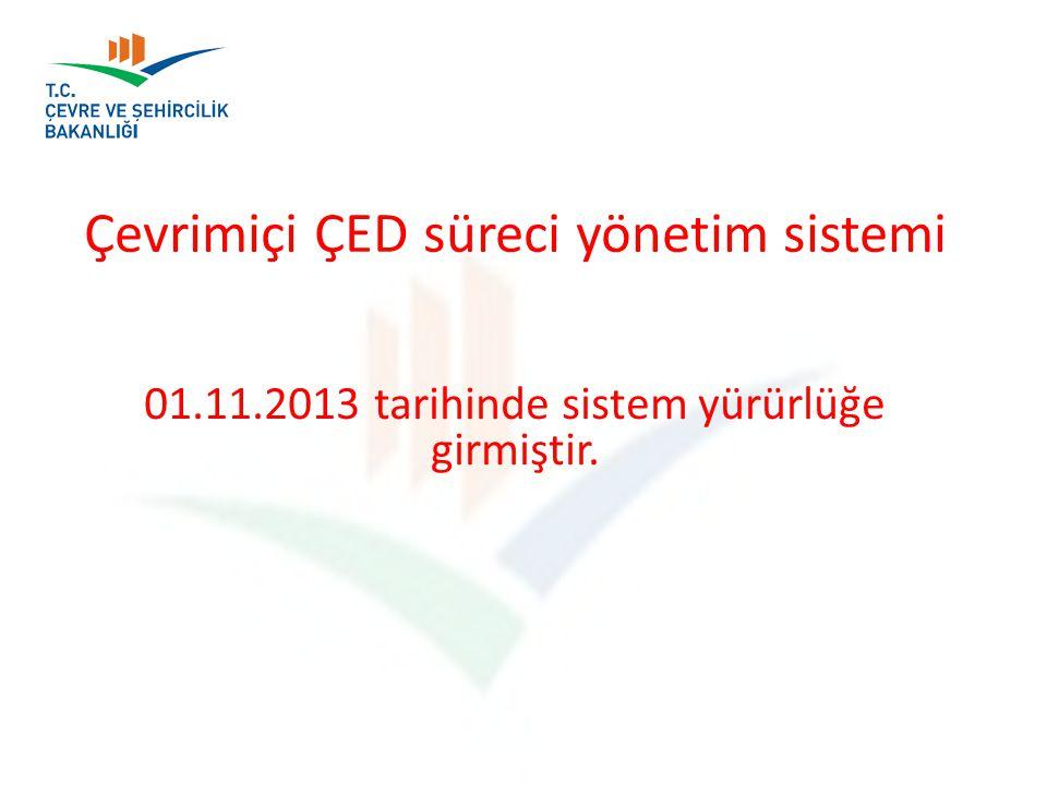 Çevrimiçi ÇED süreci yönetim sistemi