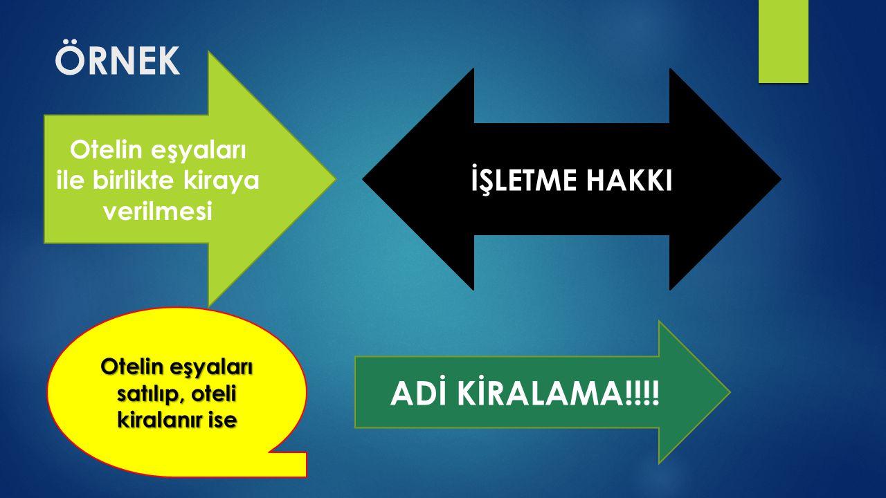 ÖRNEK ADİ KİRALAMA!!!! İŞLETME HAKKI