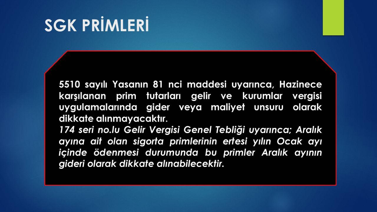 SGK PRİMLERİ