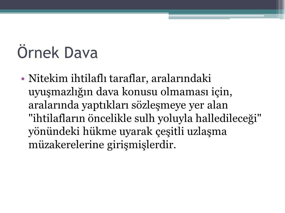 Örnek Dava