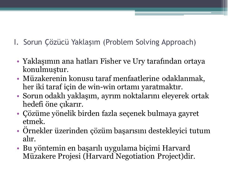 I. Sorun Çözücü Yaklaşım (Problem Solving Approach)