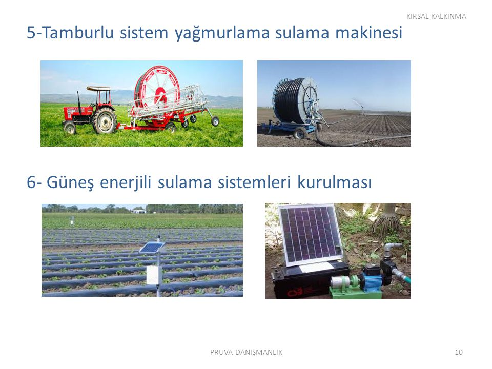 5-Tamburlu sistem yağmurlama sulama makinesi