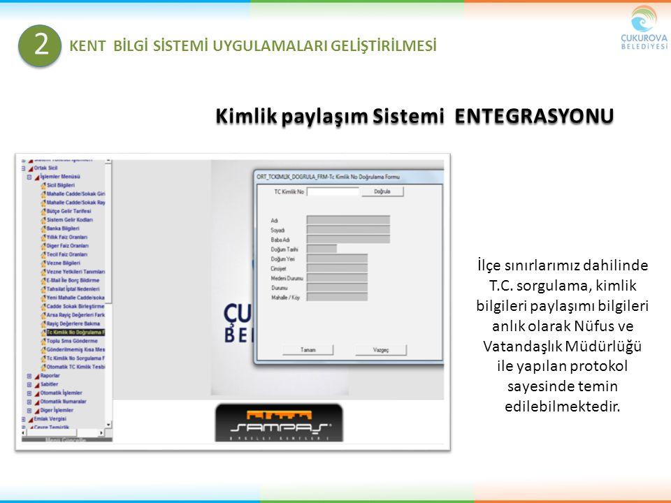 2 Kimlik paylaşım Sistemi ENTEGRASYONU