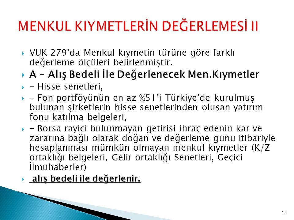 MENKUL KIYMETLERİN DEĞERLEMESİ II