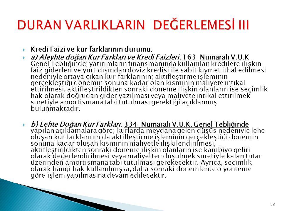 DURAN VARLIKLARIN DEĞERLEMESİ III