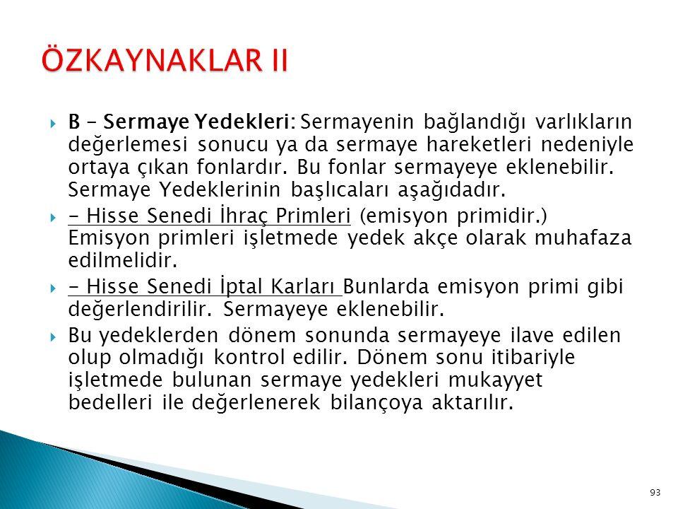 ÖZKAYNAKLAR II