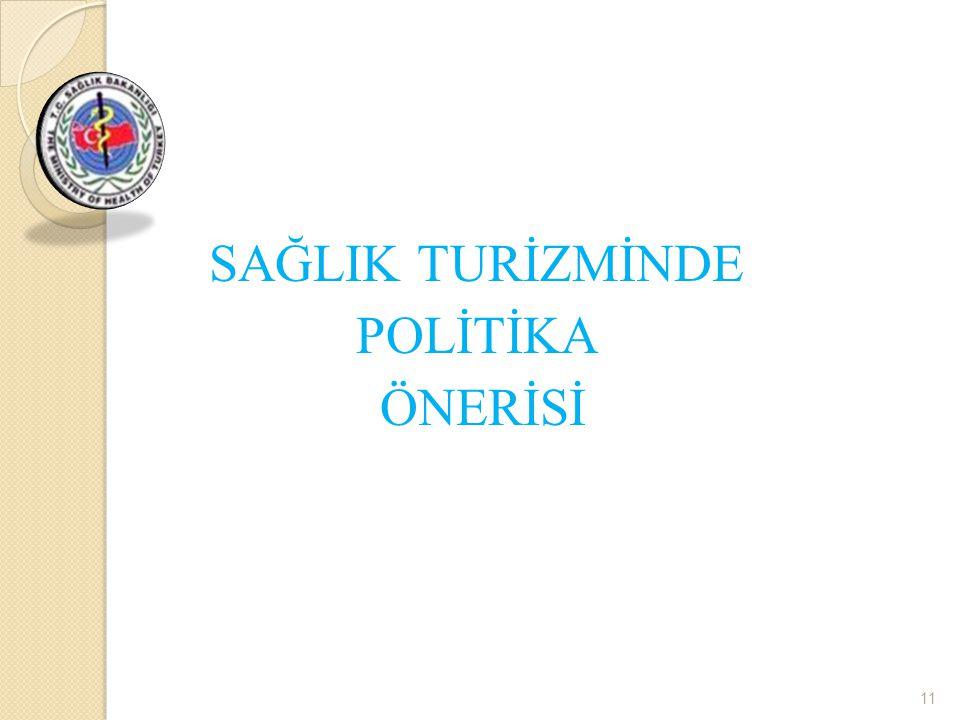 SAĞLIK TURİZMİNDE POLİTİKA ÖNERİSİ