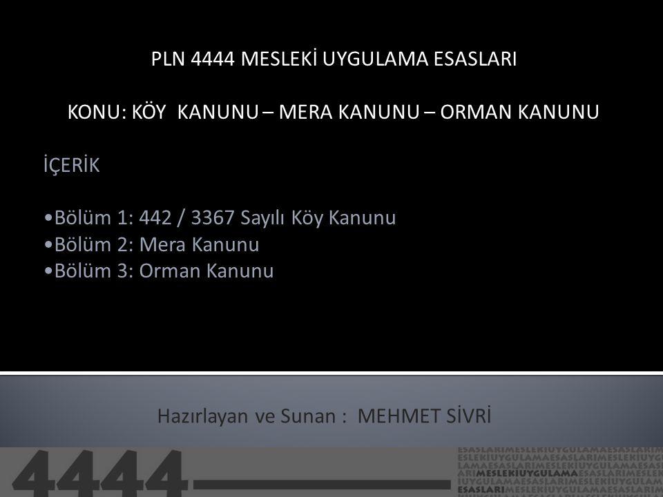 PLN 4444 MESLEKİ UYGULAMA ESASLARI