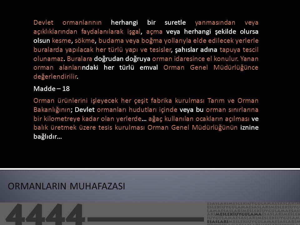 ORMANLARIN MUHAFAZASI