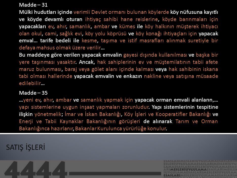 Madde – 31