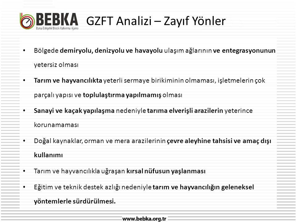 GZFT Analizi – Zayıf Yönler