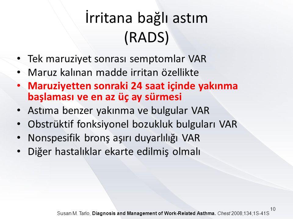 İrritana bağlı astım (RADS)