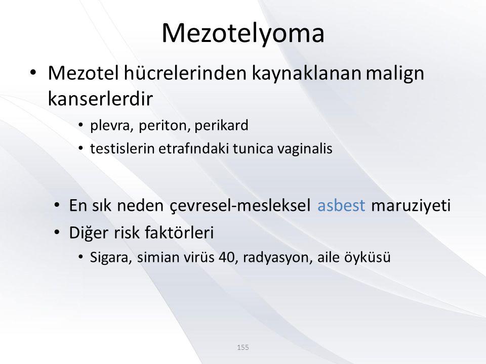 Mezotelyoma Mezotel hücrelerinden kaynaklanan malign kanserlerdir