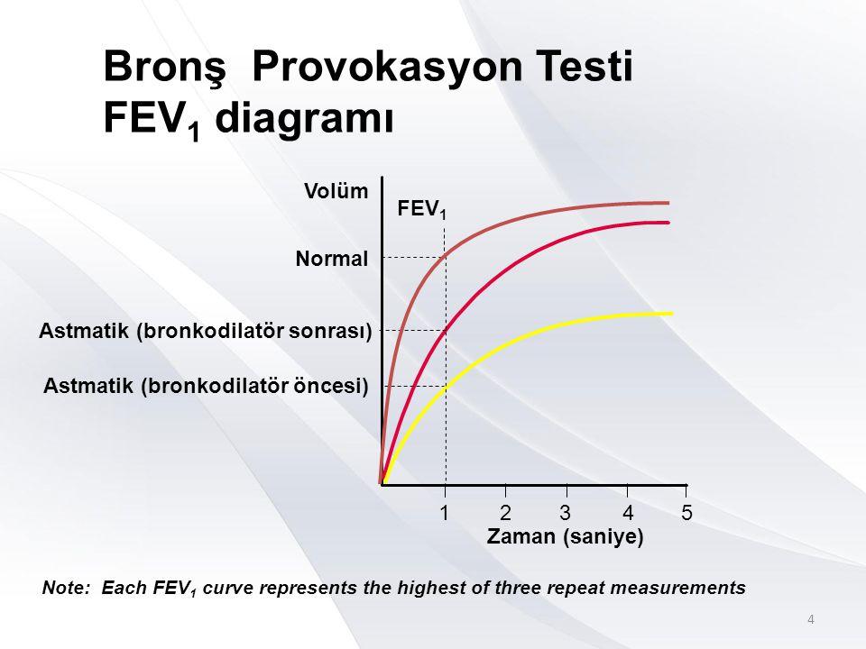 Bronş Provokasyon Testi FEV1 diagramı