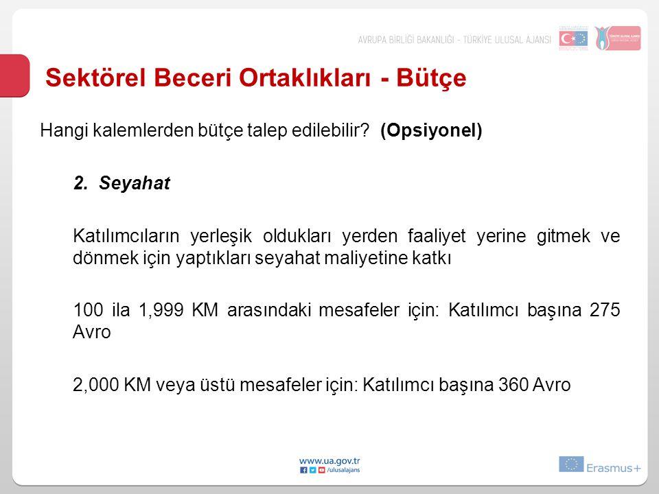 Sektörel Beceri Ortaklıkları - Bütçe