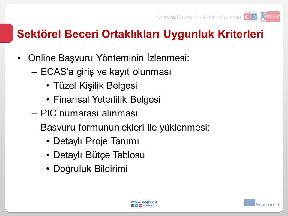 Sektörel Beceri Ortaklıkları Uygunluk Kriterleri