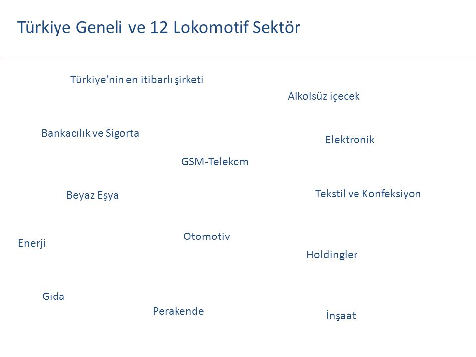 Türkiye Geneli ve 12 Lokomotif Sektör
