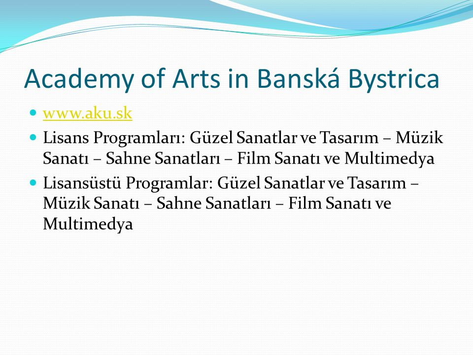 Academy of Arts in Banská Bystrica