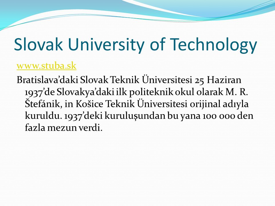 Slovak University of Technology