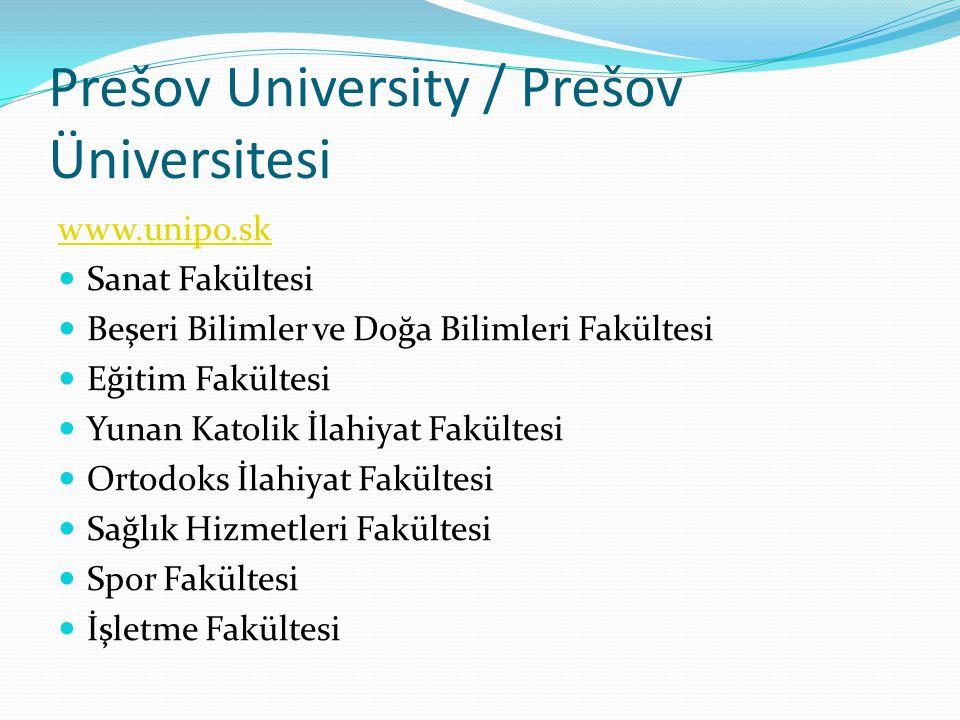 Prešov University / Prešov Üniversitesi