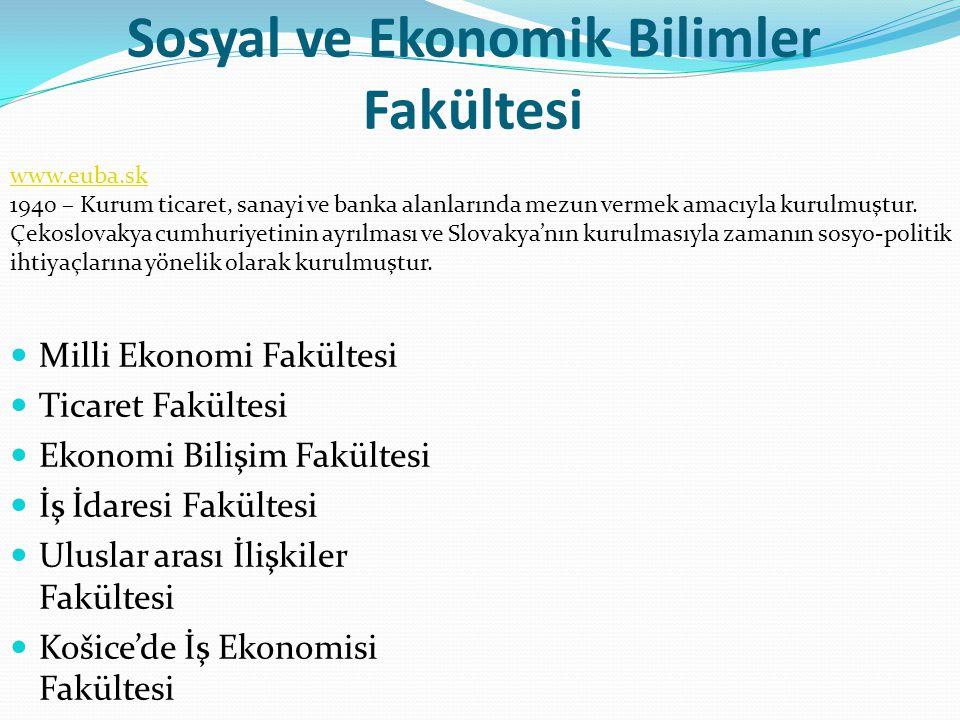 Sosyal ve Ekonomik Bilimler Fakültesi