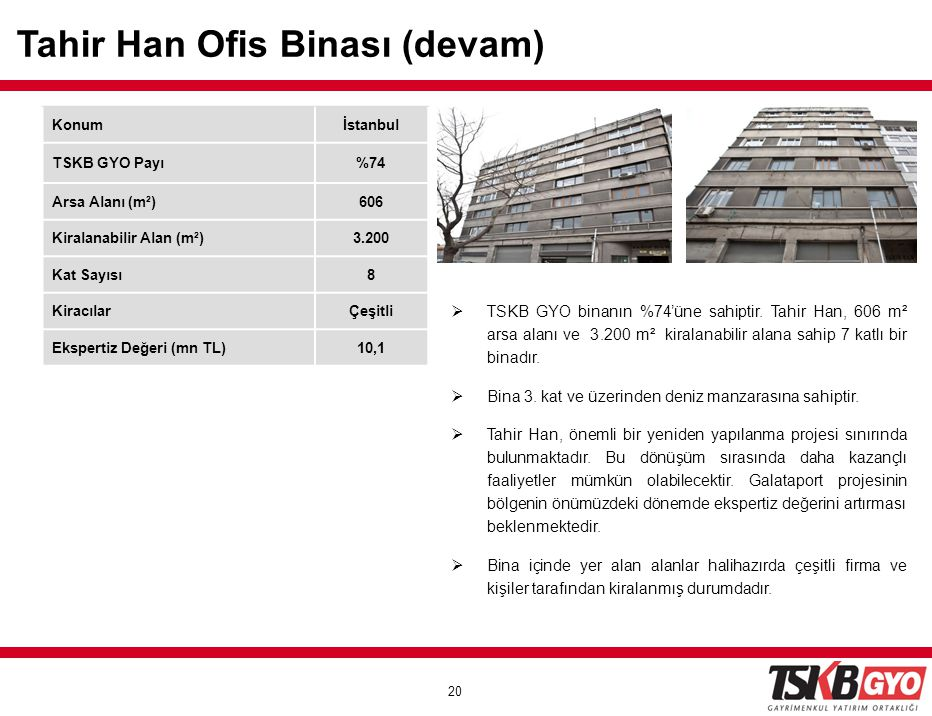 Tahir Han Ofis Binası (devam)