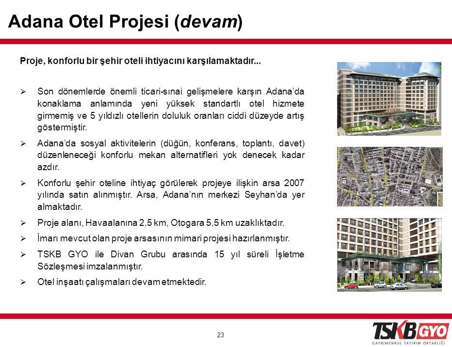 Adana Otel Projesi (devam)