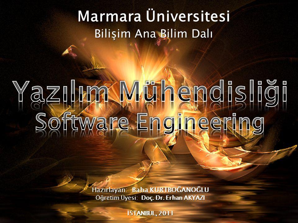Yazılım Mühendisliği Software Engineering Marmara Üniversitesi