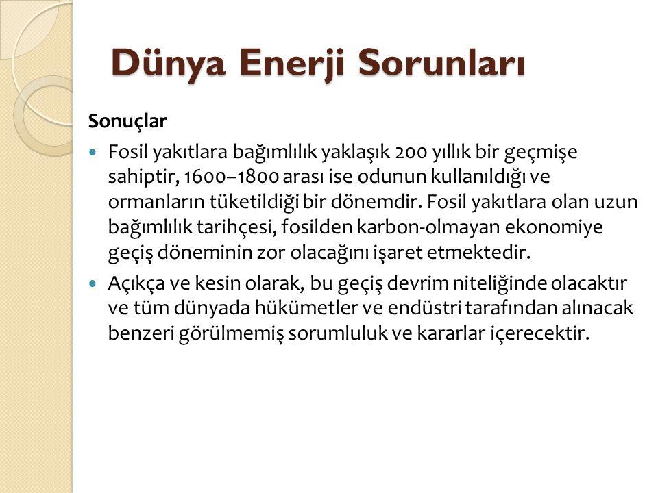 Dünya Enerji Sorunları
