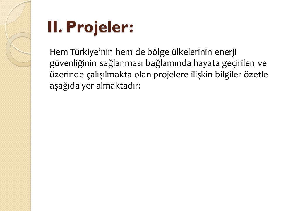 II. Projeler: