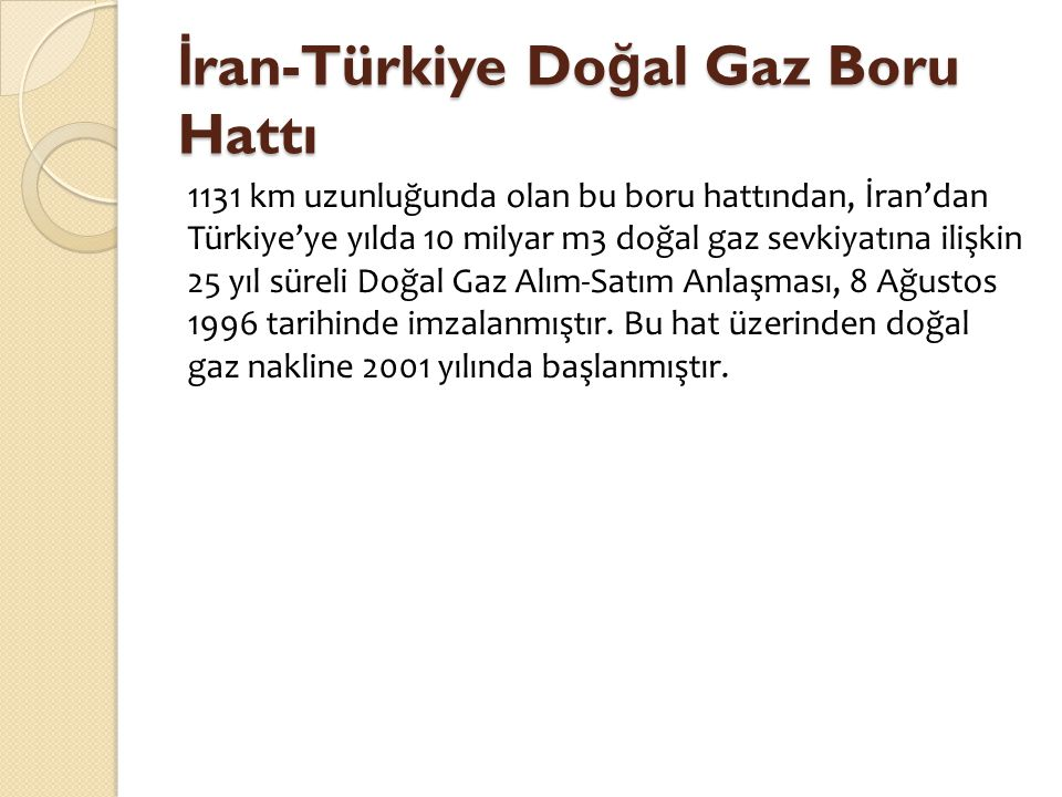 İran-Türkiye Doğal Gaz Boru Hattı
