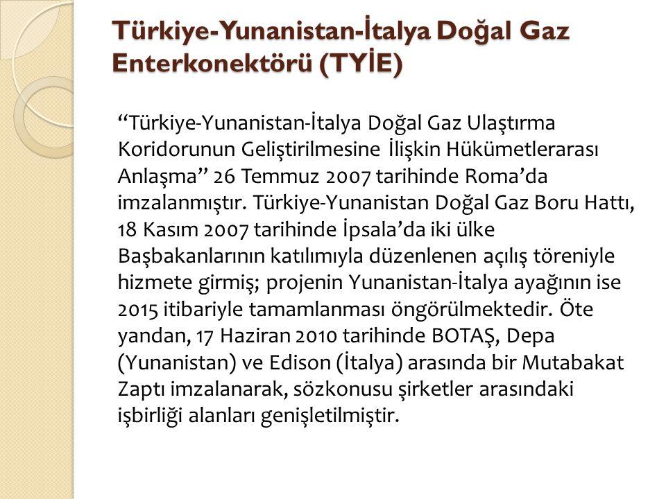 Türkiye-Yunanistan-İtalya Doğal Gaz Enterkonektörü (TYİE)