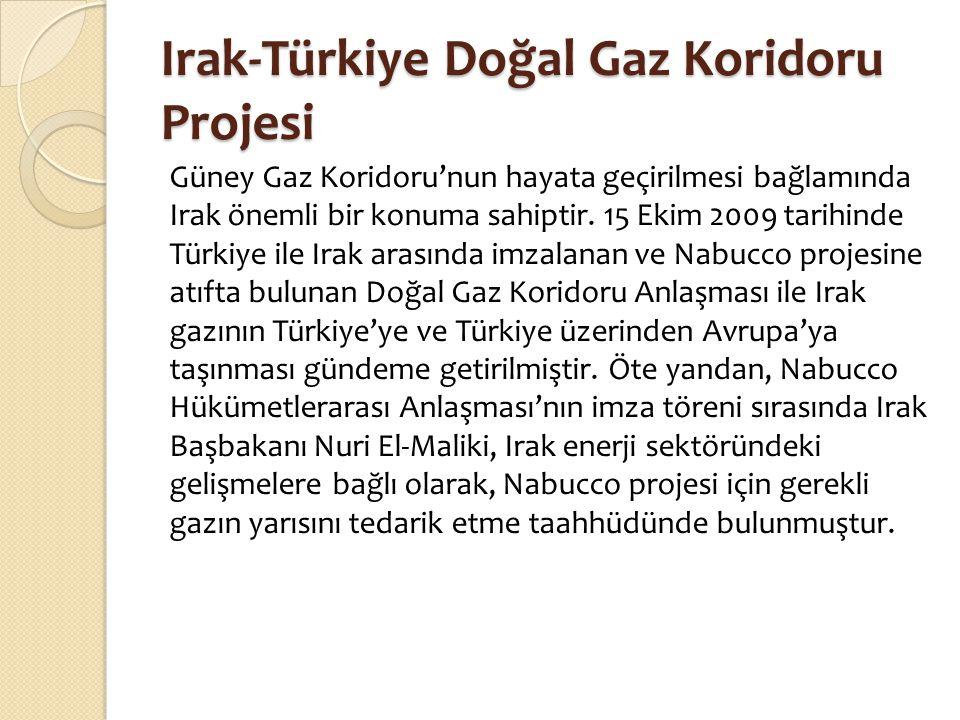 Irak-Türkiye Doğal Gaz Koridoru Projesi