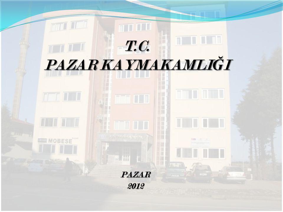 T.C. PAZAR KAYMAKAMLIĞI PAZAR 2012