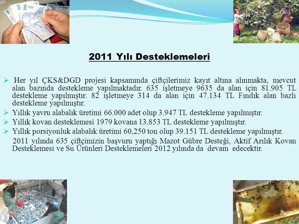 2011 Yılı Desteklemeleri