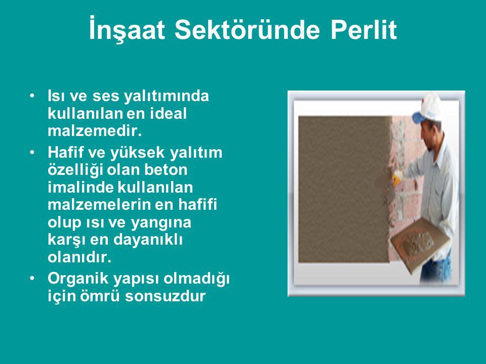 İnşaat Sektöründe Perlit