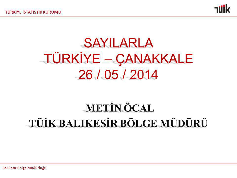 SAYILARLA TÜRKİYE – ÇANAKKALE 26 / 05 / 2014