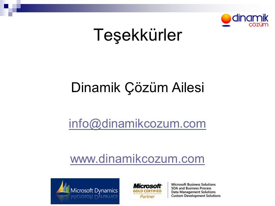 Teşekkürler Dinamik Çözüm Ailesi info@dinamikcozum.com