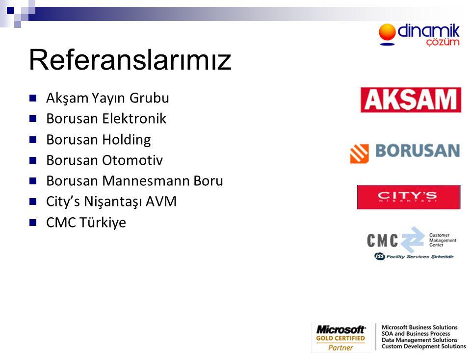 Referanslarımız Akşam Yayın Grubu Borusan Elektronik Borusan Holding