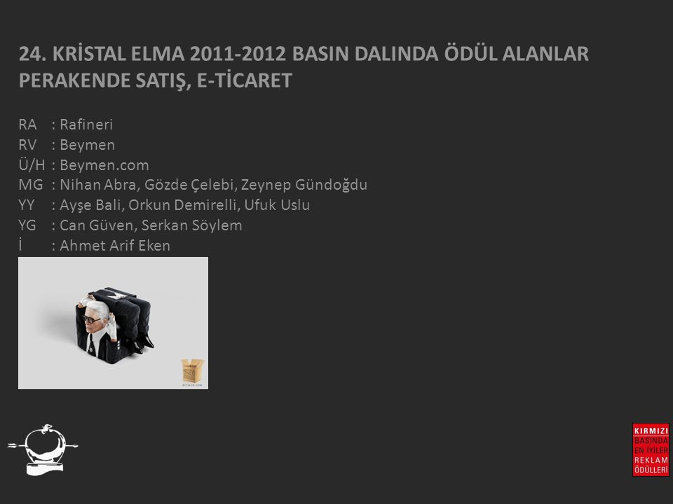 24. KRİSTAL ELMA 2011-2012 BASIN DALINDA ÖDÜL ALANLAR