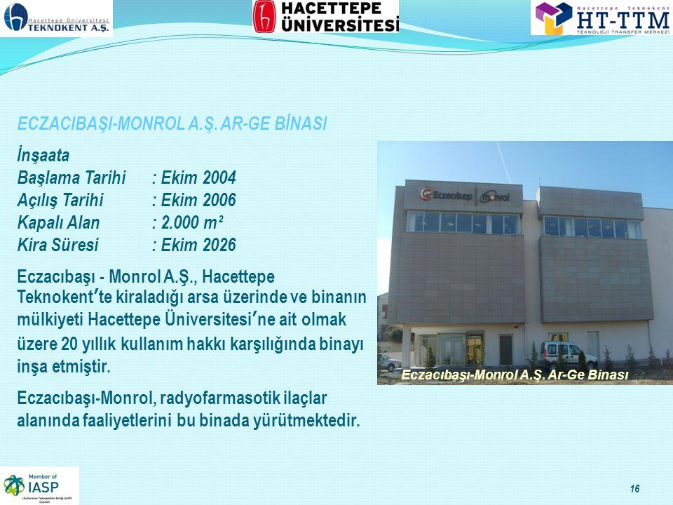 ECZACIBAŞI-MONROL A.Ş. AR-GE BİNASI İnşaata