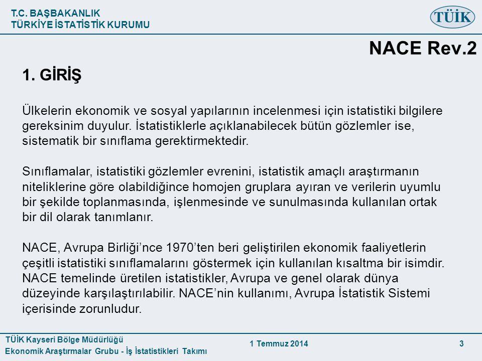 NACE Rev.2 1. GİRİŞ.