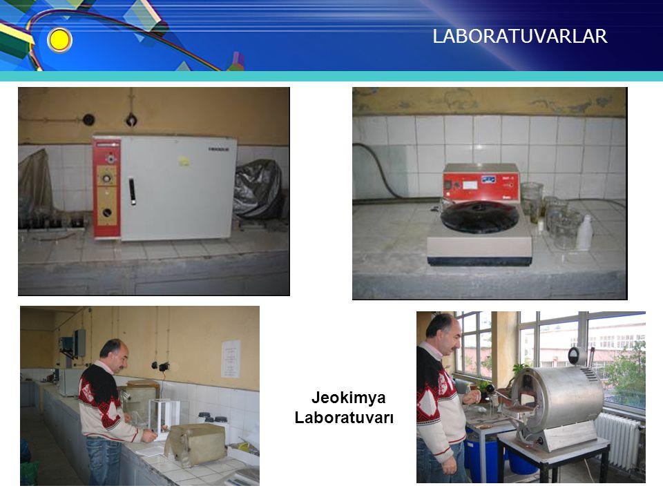 LABORATUVARLAR Jeokimya Laboratuvarı