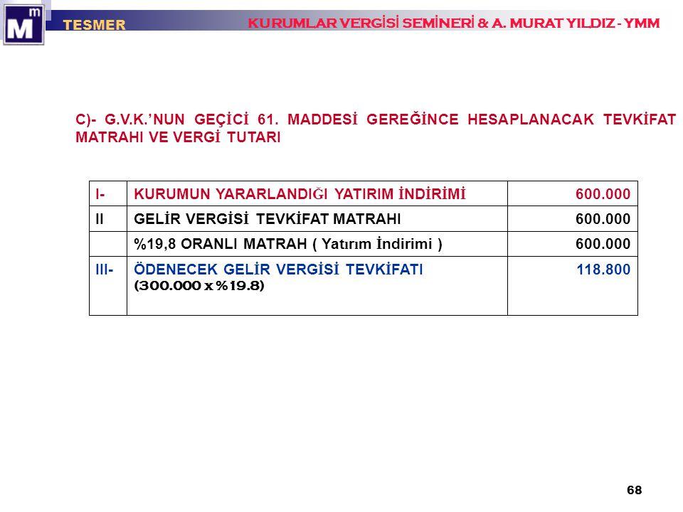 ÖDENECEK GELİR VERGİSİ TEVKİFATI III- 600.000