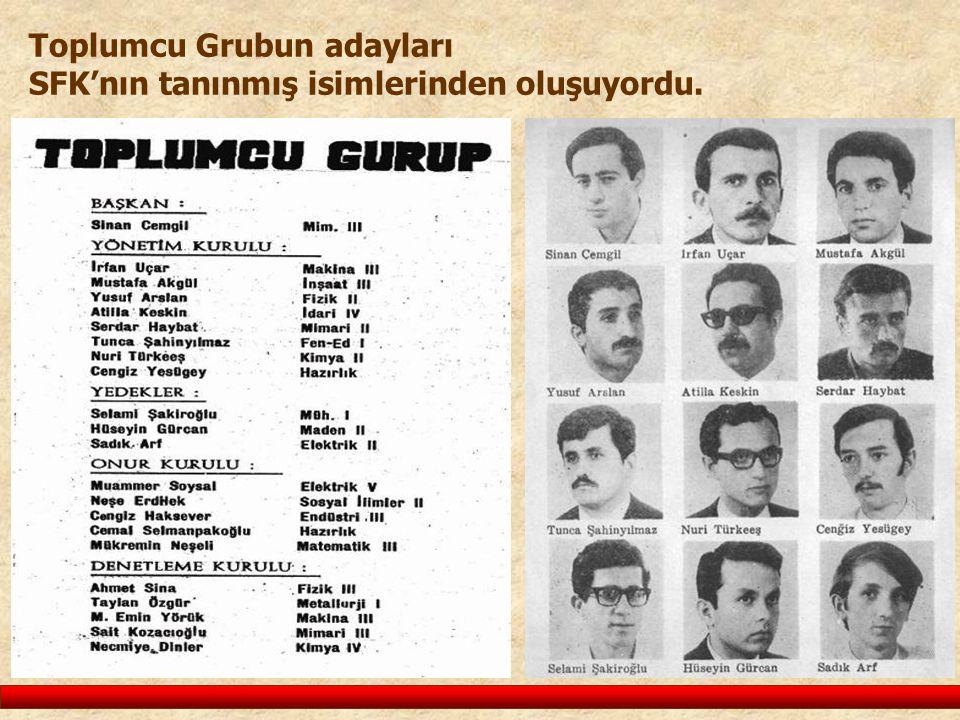 Toplumcu Grubun adayları