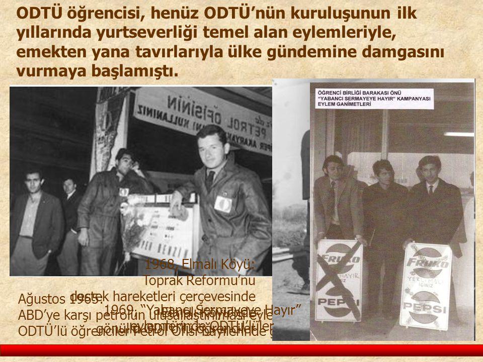 1969, Yabancı Sermayeye Hayır eylemlerinde ODTÜ'lüler