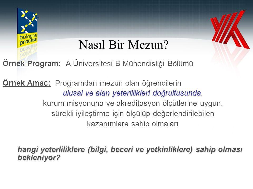 Nasıl Bir Mezun Örnek Program: A Üniversitesi B Mühendisliği Bölümü