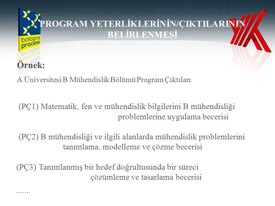 PROGRAM YETERLİKLERİNİN/ÇIKTILARININ