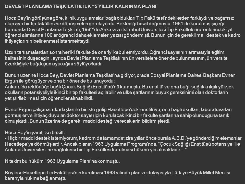 DEVLET PLANLAMA TEŞKİLATI & İLK 5 YILLIK KALKINMA PLANI