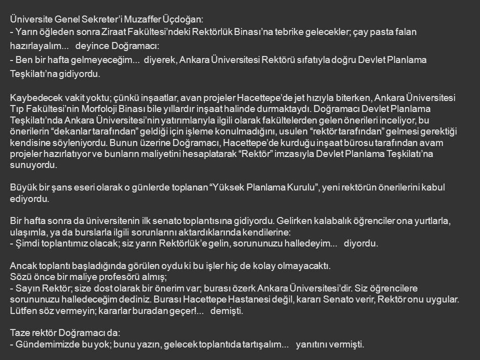 Üniversite Genel Sekreter'i Muzaffer Üçdoğan: